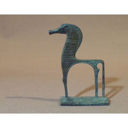 mini bronze geometric horse