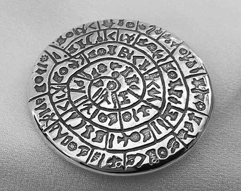 Phaistos Disc brooch pendant