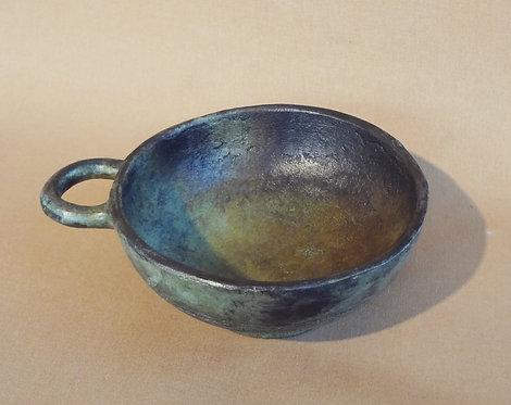 chunky bronze phiale with handle