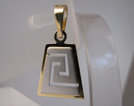 Greek key design pendant