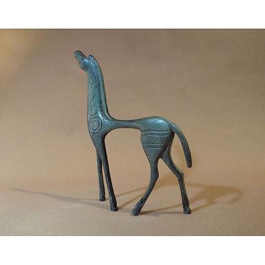 bronze neighing horse