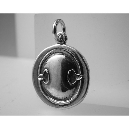 shield and krater coin pendant