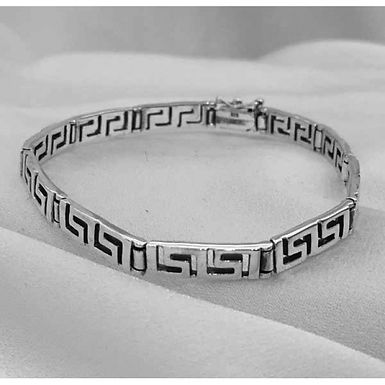 Greek key design bracelet