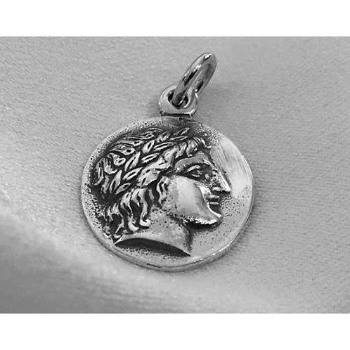 Apollo and lyre coin pendant (mini)