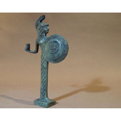 mini bronze Athena with owl