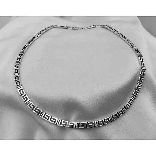 Greek key design necklace