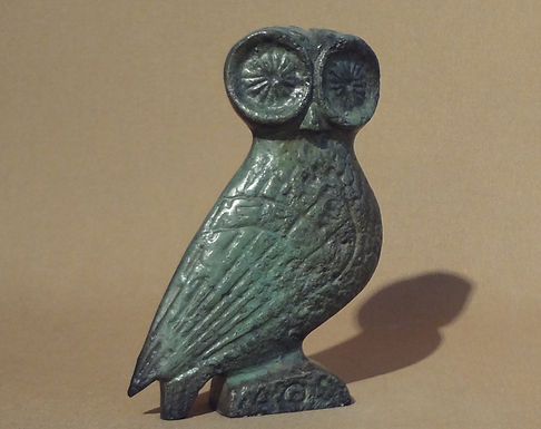 bronze large lookout owl!