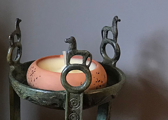 bay and rosemary scented terracotta tealight