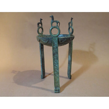 bronze tripod with horses (small)