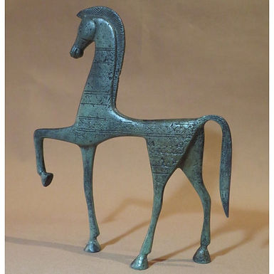 medium bronze dancing horse