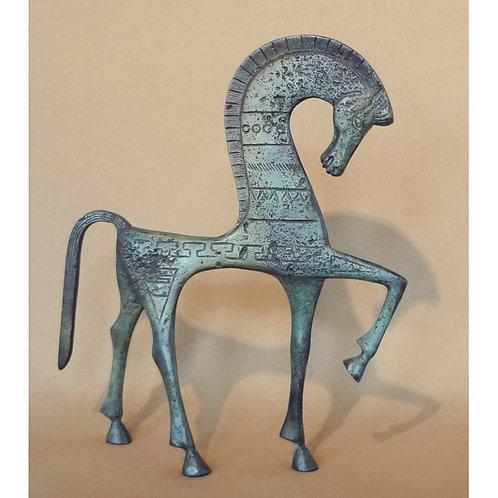 large bronze shy horse