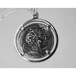 Alexander the Great and Herakles coin pendant