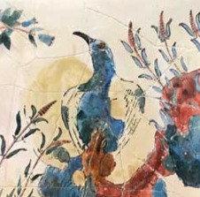 Minoan Blue Bird fresco tile (small)