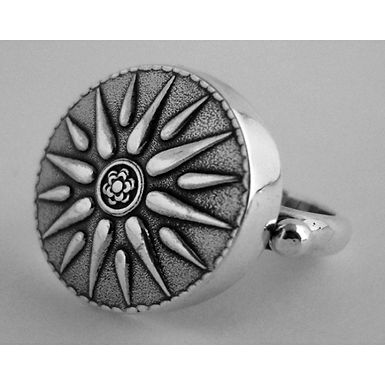 Macedonian sunburst ring
