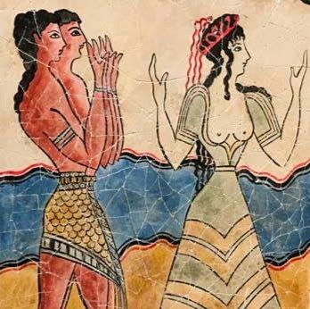 Minoan Procession Fresco - priestess (large)