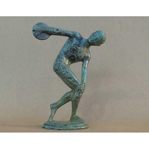 bronze statue: Myron's discus-thrower