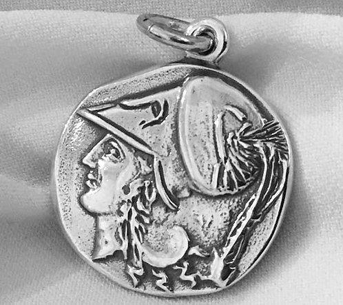 Athena with Pegasus coin pendant