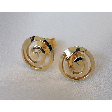 spiral design earstuds