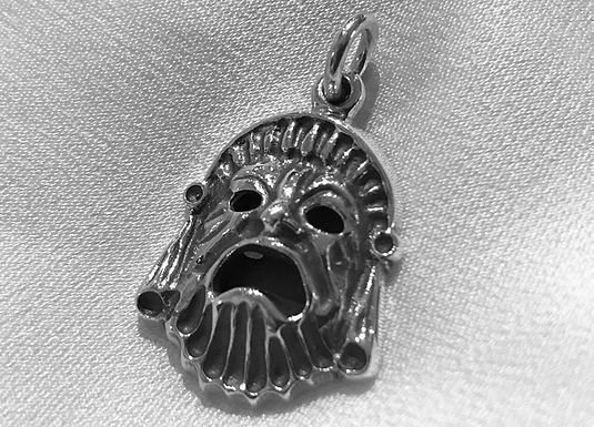 ancient Greek tragedy mask pendant