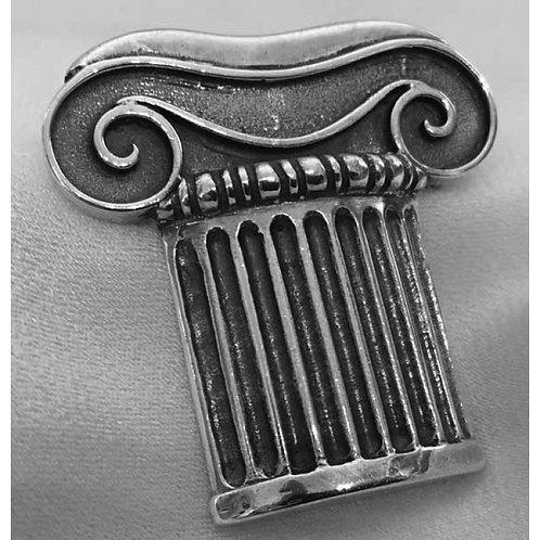 Ionic column capital brooch
