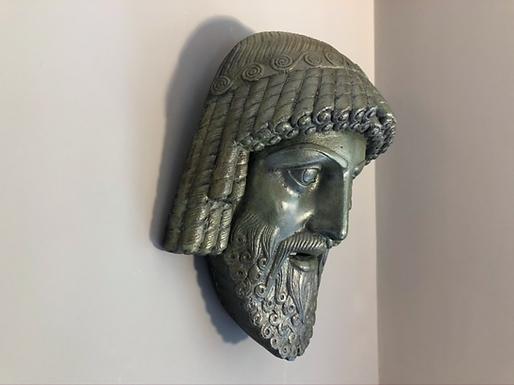 bronze mask of Zeus