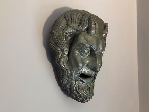 bronze mask of Pan