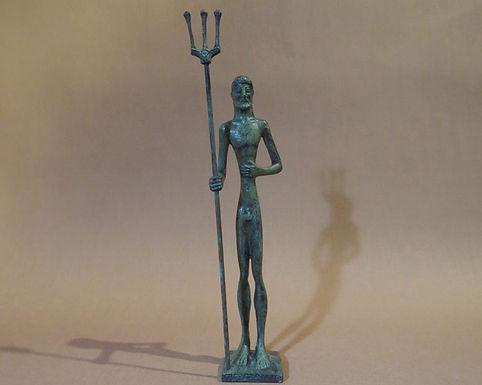 bronze statue: Poseidon, god of the oceans
