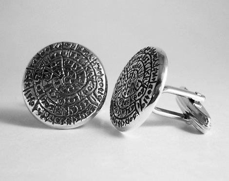 Phaistos Disc cufflinks