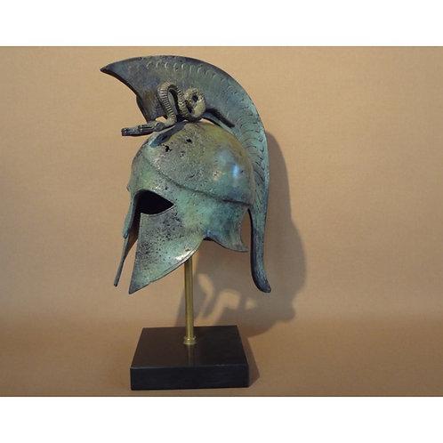 bronze medium helmet with twin serpents crest