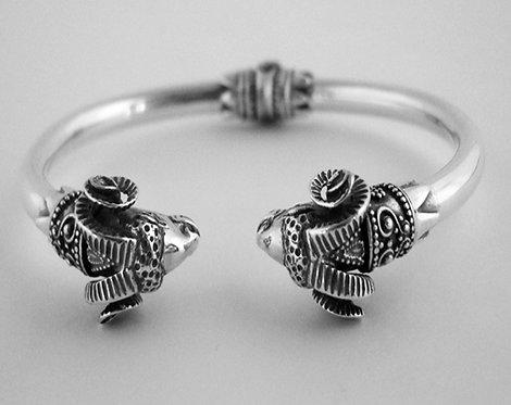 twin rams torc bracelet