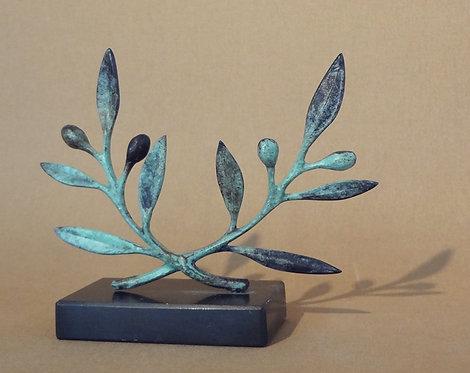 bronze olive wreath - small
