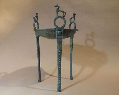 bronze tripod with horses (medium)