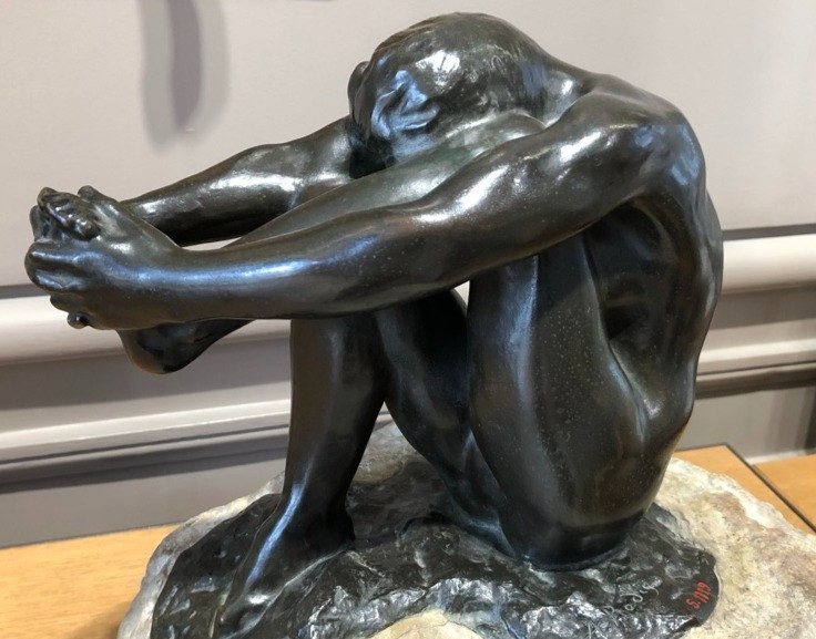 One of Rodin's beautiful bronzes. Focusing on the feet.
