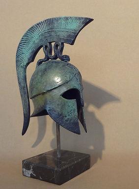 small/medium bronze helmet with coiling serpent crest