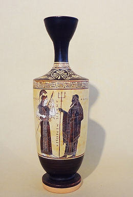black-figure lekythos - Athena and Poseidon