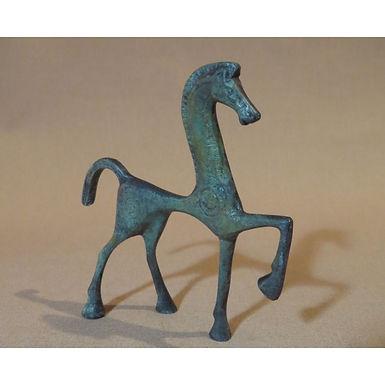 mini bronze dancing horse