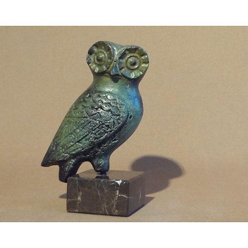 medium bronze pensive owl