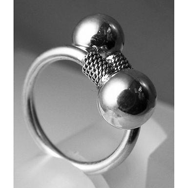 twin orbs ring