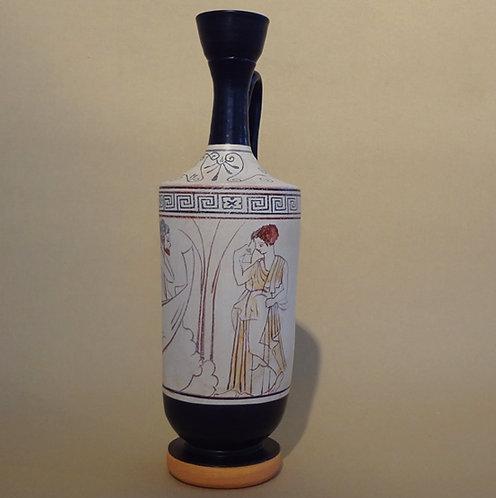 white-ground lekythos: Charon the ferryman