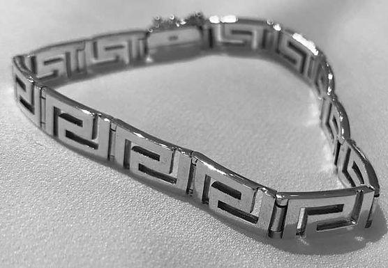 Greek key design chunky bracelet