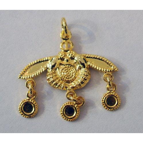 Minoan Malia honeybees gold-plated pendant