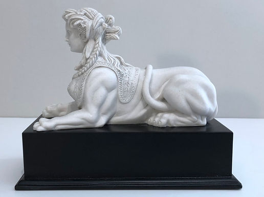 marble sphinx on a black base