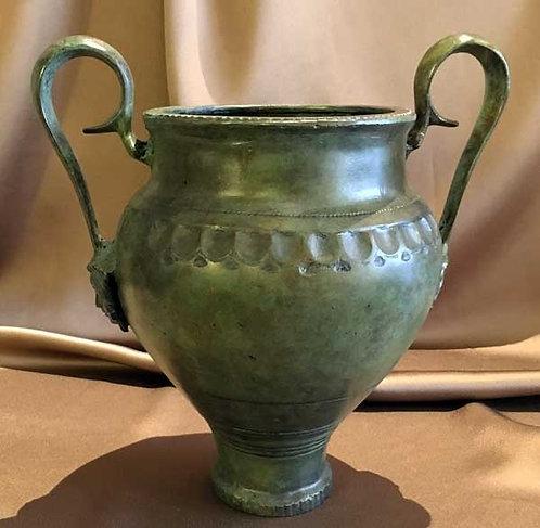 bronze amphora with Medusa at base of handles