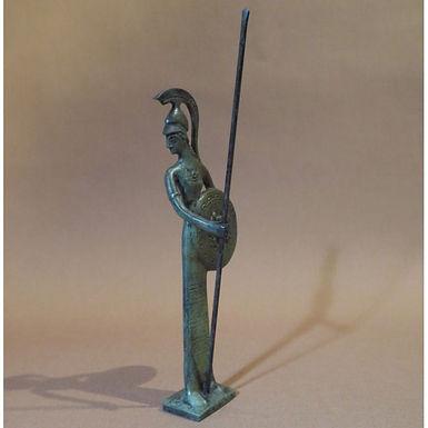 bronze statue: Athena, goddess of wisdom