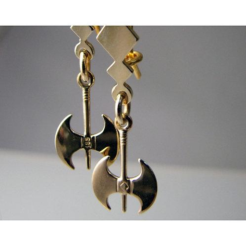 labrys double-axe earrings