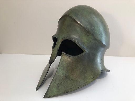large bronze freestanding helmet