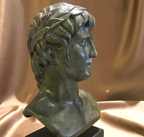 bronze head of Apollo