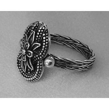 woven loveknot and lotusflower ring