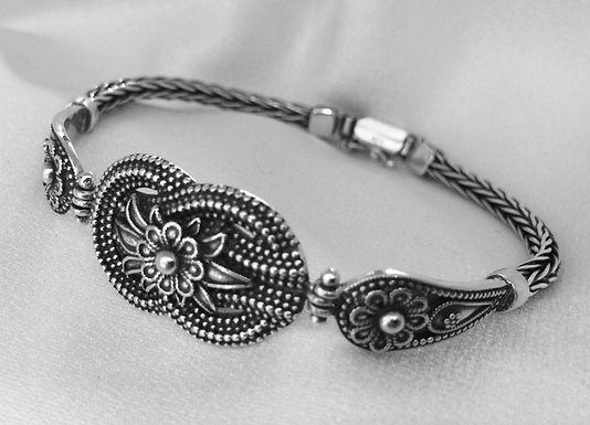woven loveknot and lotus bracelet