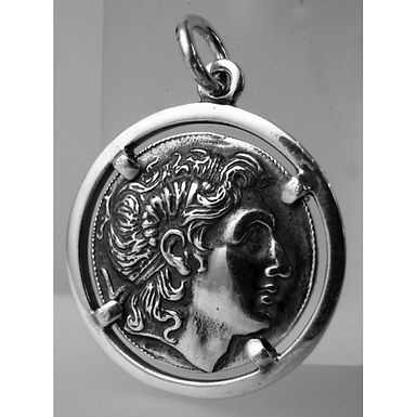 Alexander the Great, Athena with Nike coin pendant